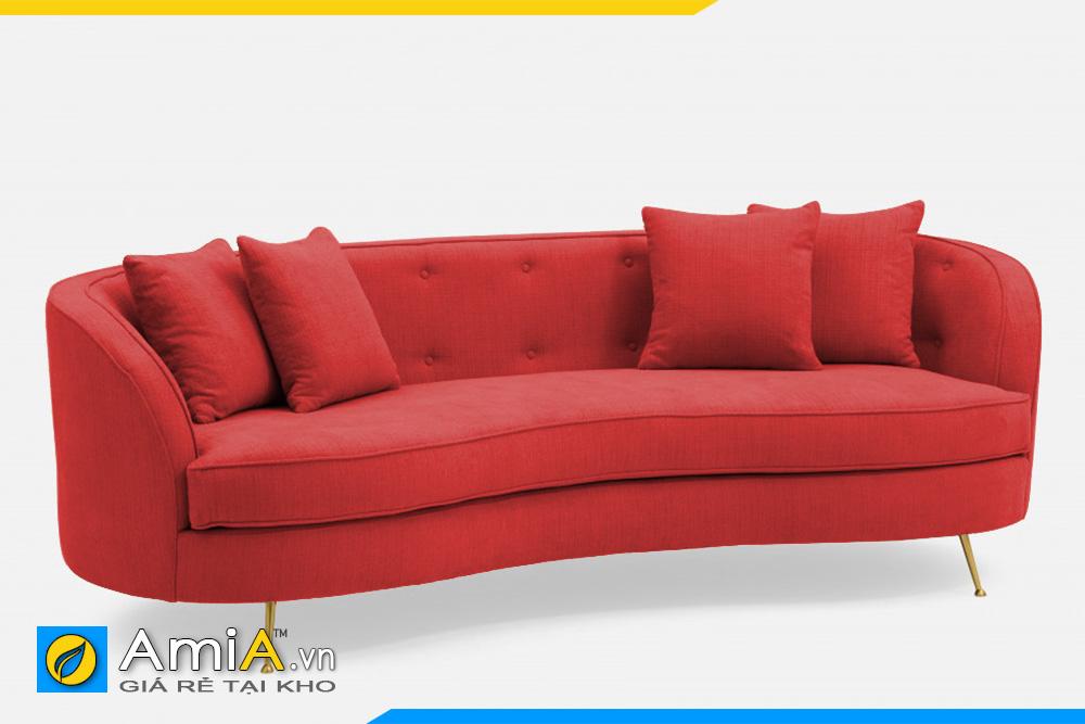 sofa màu đỏ dáng quây tròn