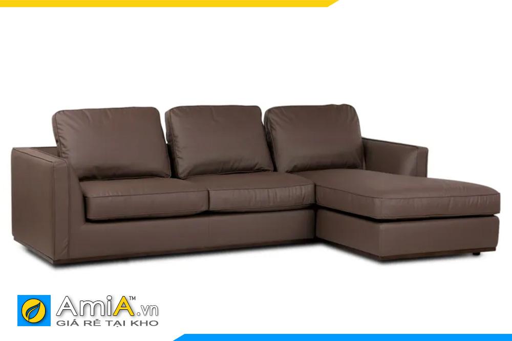Mẫu ghế sofa màu nâu đất đẹp