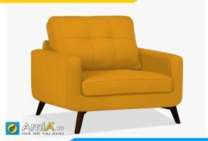 ghế sofa da màu vàng 1 chỗ