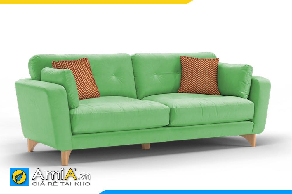 mẫu sofa nhỏ màu xanh nõn chuối