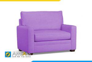 ghế sofa đơn màu tím dài 1m