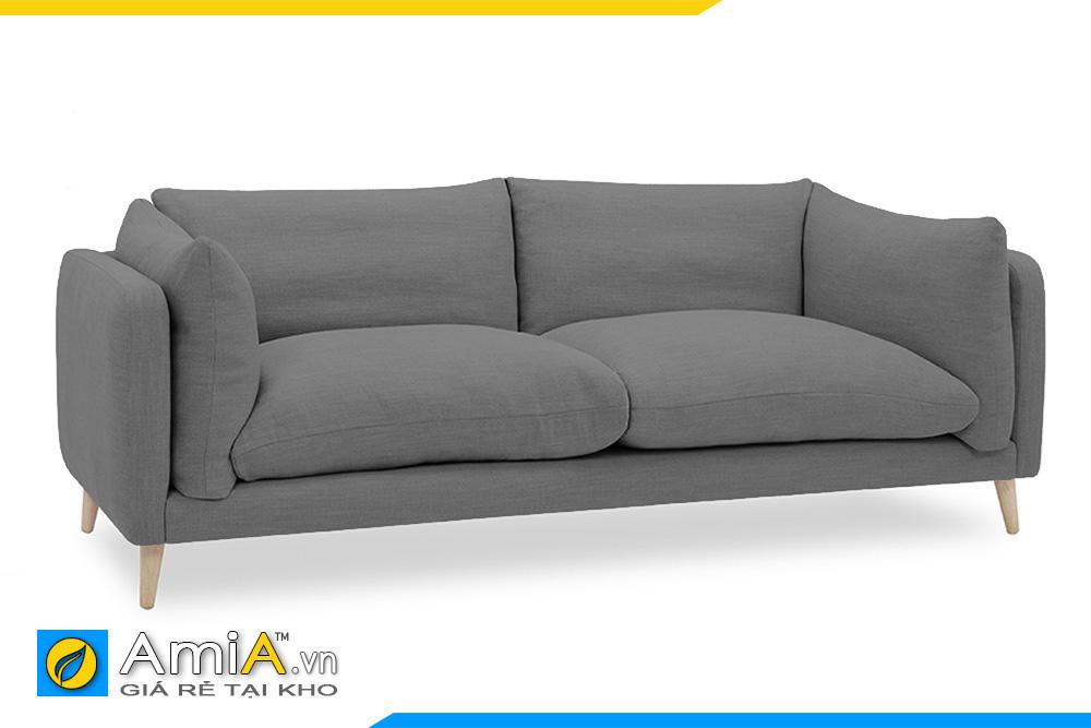 Sofa nhỏ mini bọc nỉ màu ghi sẫm