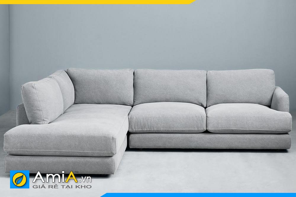 sofa nỉ đẹp chiều cao thấp
