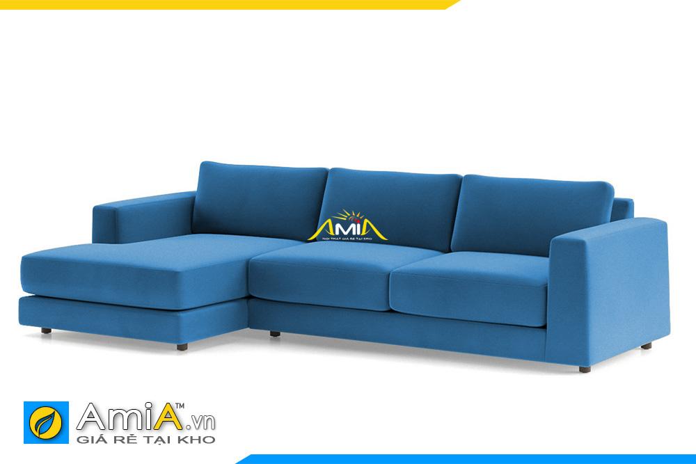 sofa nỉ đẹp màu xanh lam AmiA 20228