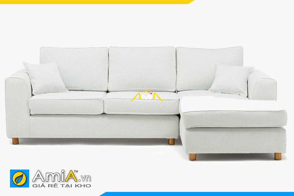 sofa nỉ đẹp màu trắng