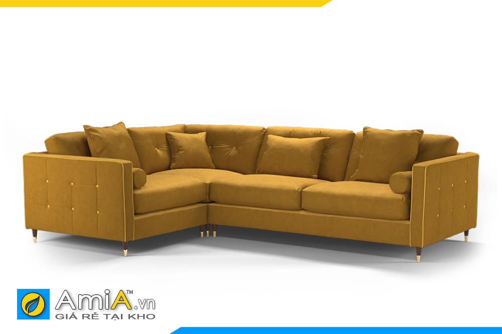 hình ảnh ghế sofa nỉ màu vàng