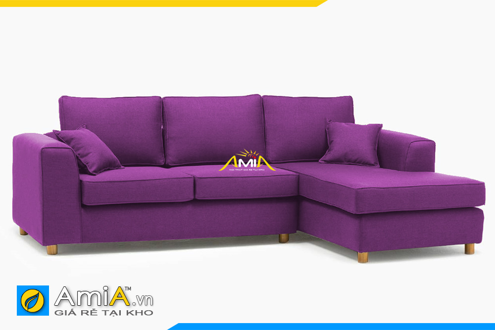ghế sofa nỉ màu tím đẹp