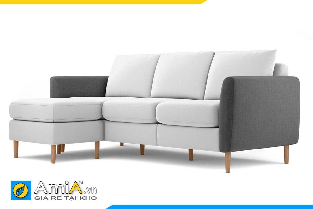 ghế sofa nỉ đẹp phối màu trắng ghi