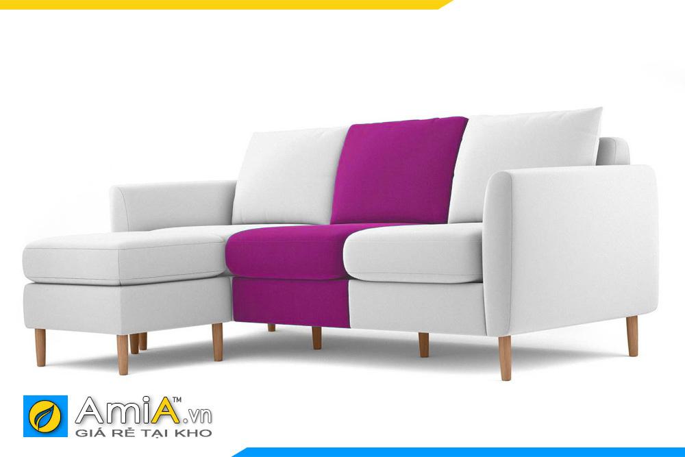 sofa màu tím phối màu trắng AmiA 20203
