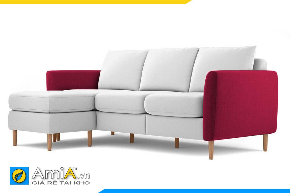 sofa nỉ phối 2 màu đẹp AmiA 20203