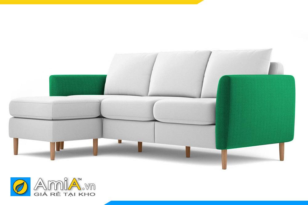 sofa phối 2 màu xanh và trắng