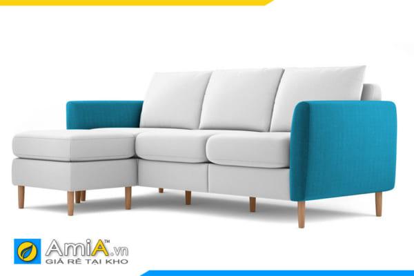 ghế sofa nỉ đẹp phối màu AmiA 20203