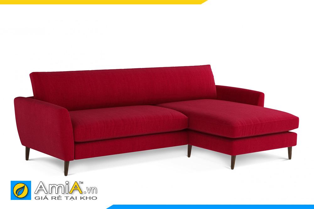 ghế sofa nỉ giá rẻ màu đỏ