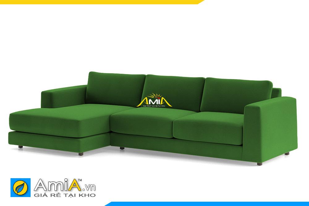 ghế sofa nỉ đẹp màu xanh lá cây