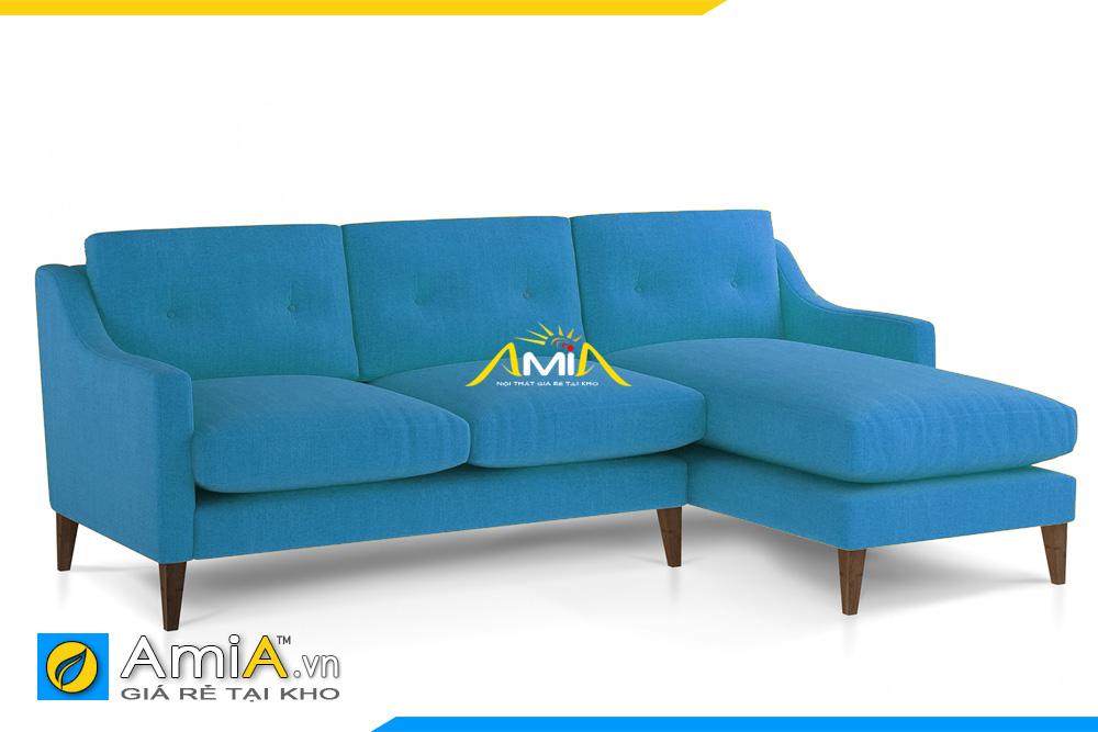 sofa góc nỉ đẹp màu xanh lam