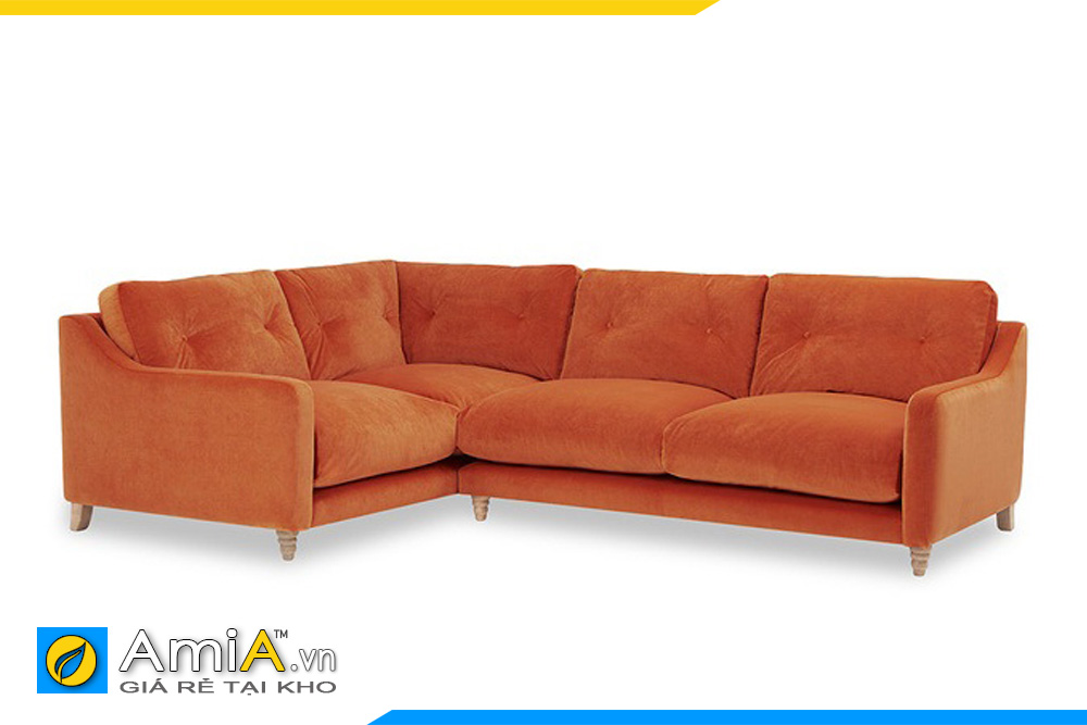 ghế sofa nỉ màu cam thiết kế trẻ trung