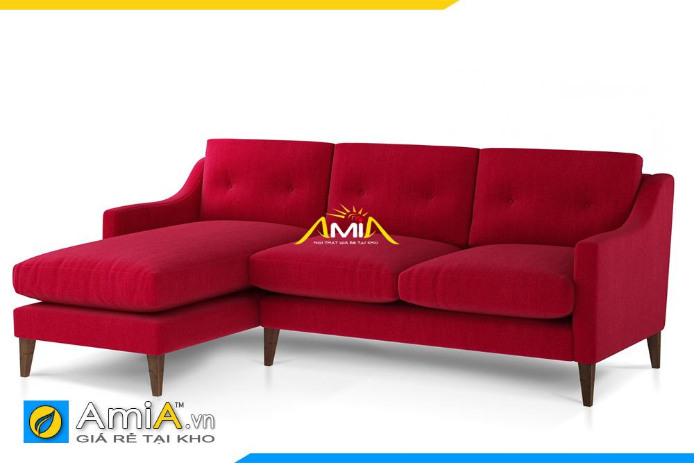 Mẫu ghế sofa nỉ đỏ giá rẻ