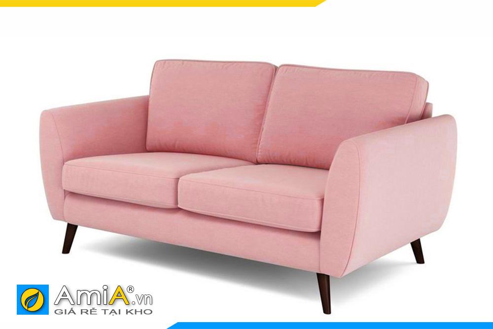 Ghế sofa màu hồng đẹp 2 chỗ