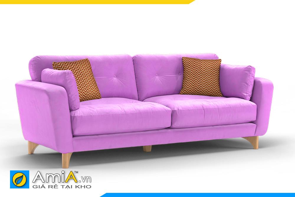 sofa màu tím hồng kích thước nhỏ