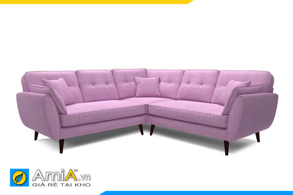ghế sofa nỉ đẹp kiểu góc chữ V