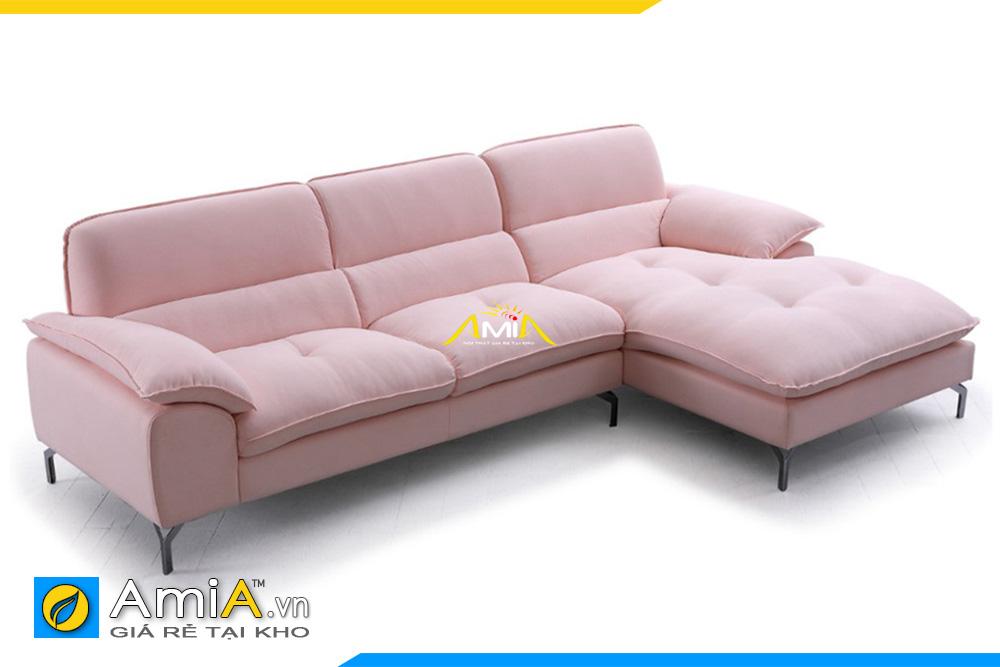 ghế sofa nỉ cỡ nhỏ màu hồng