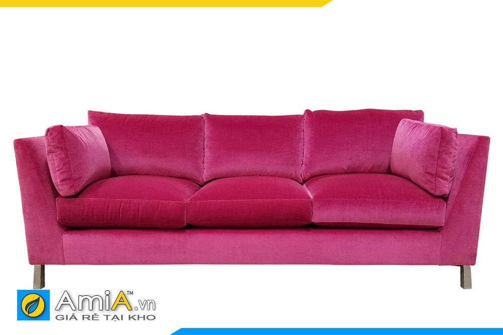 mẫu ghế sofa màu hồng đậm