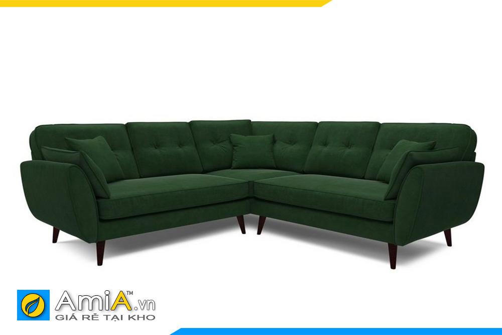 sofa nỉ đẹp màu xanh lục đậm