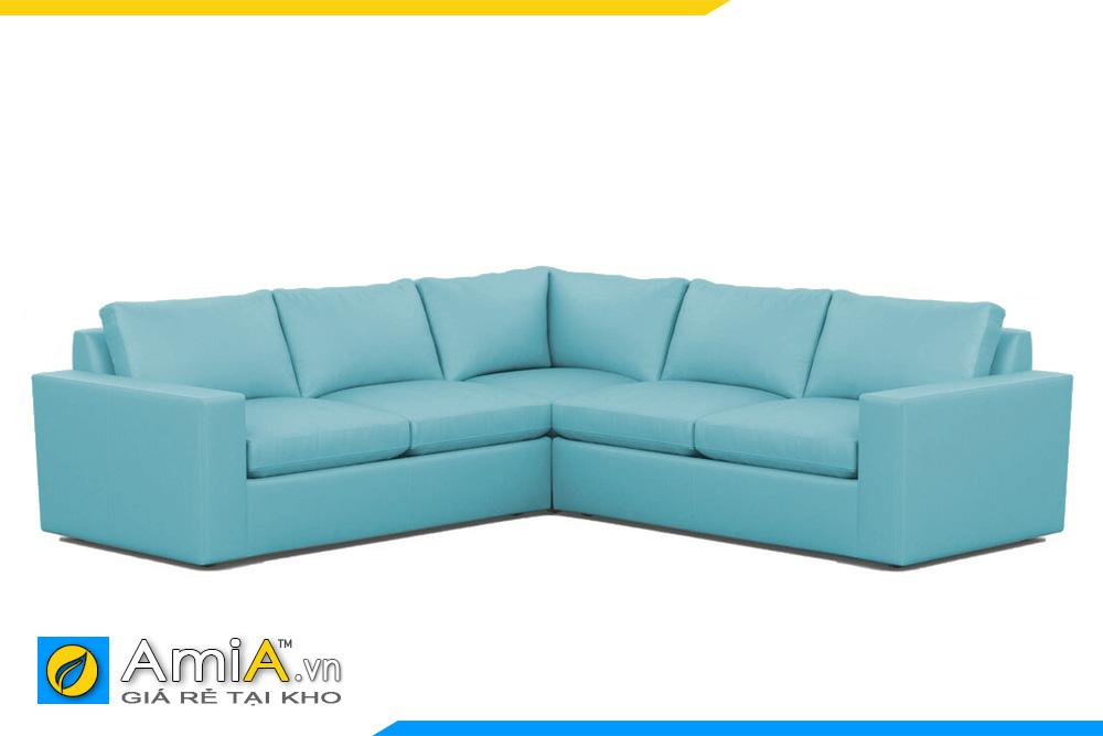 Sofa da đẹp màu xanh AmiA 20128