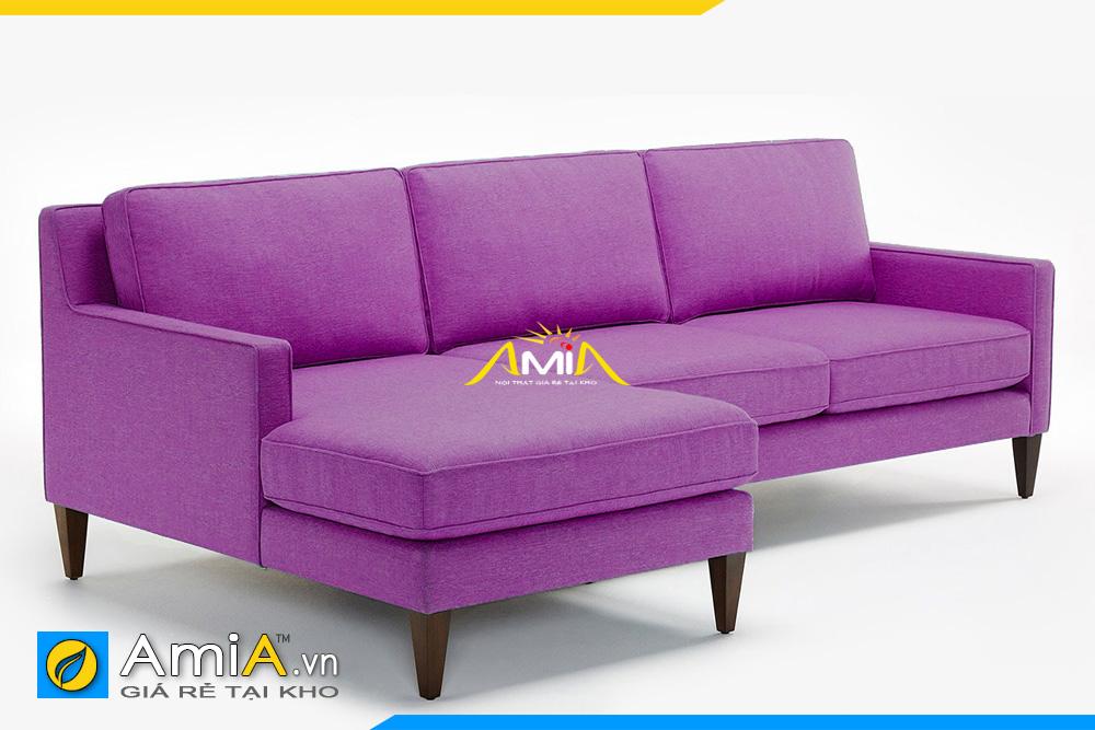 ghế sofa nỉ màu tím AmiA 20193