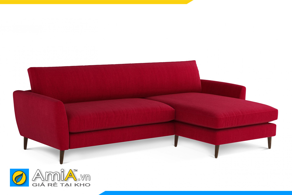 Mẫu sofa góc L bọc nỉ giá rẻ
