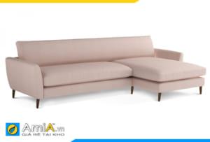 sofa nỉ giá rẻ màu phớt hồng AmiA 20094
