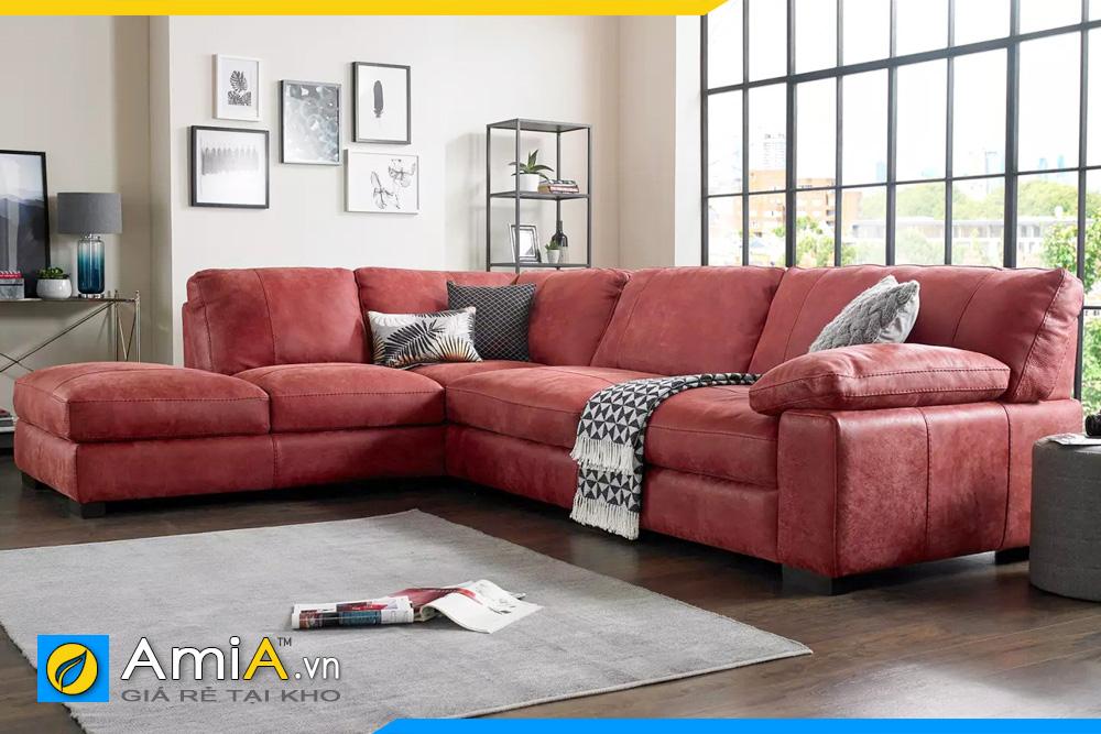 sofa phòng khách màu đỏ