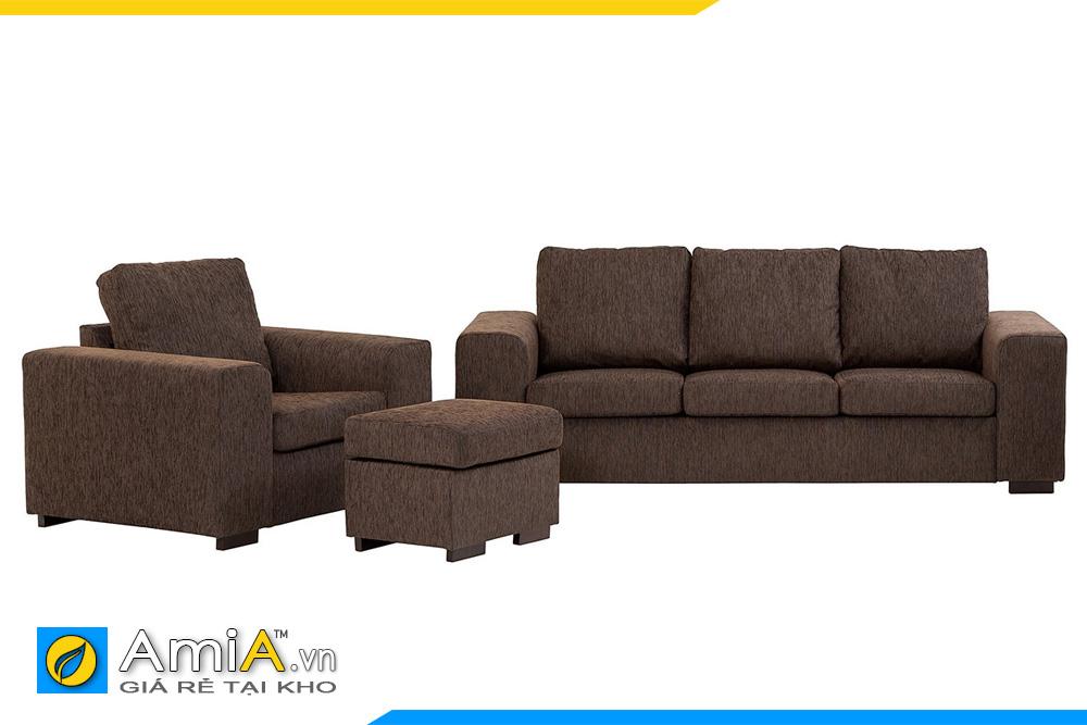 Bộ ghế sofa phòng khách màu nâu xám