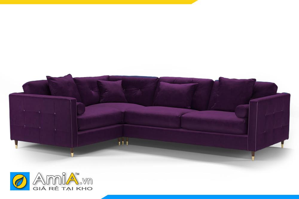 Ghế sofa góc đẹp màu tím nho