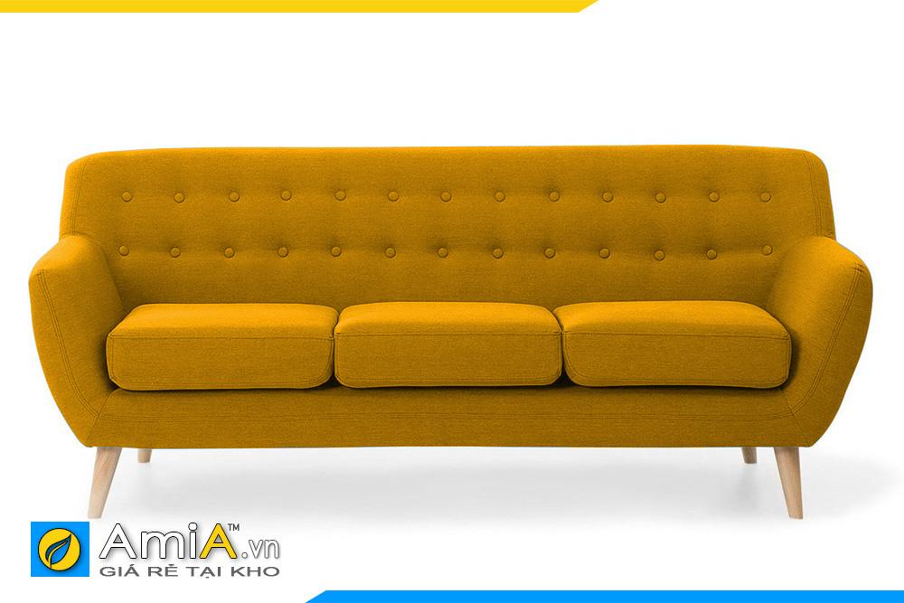 ghế sofa bọc nỉ màu vàng
