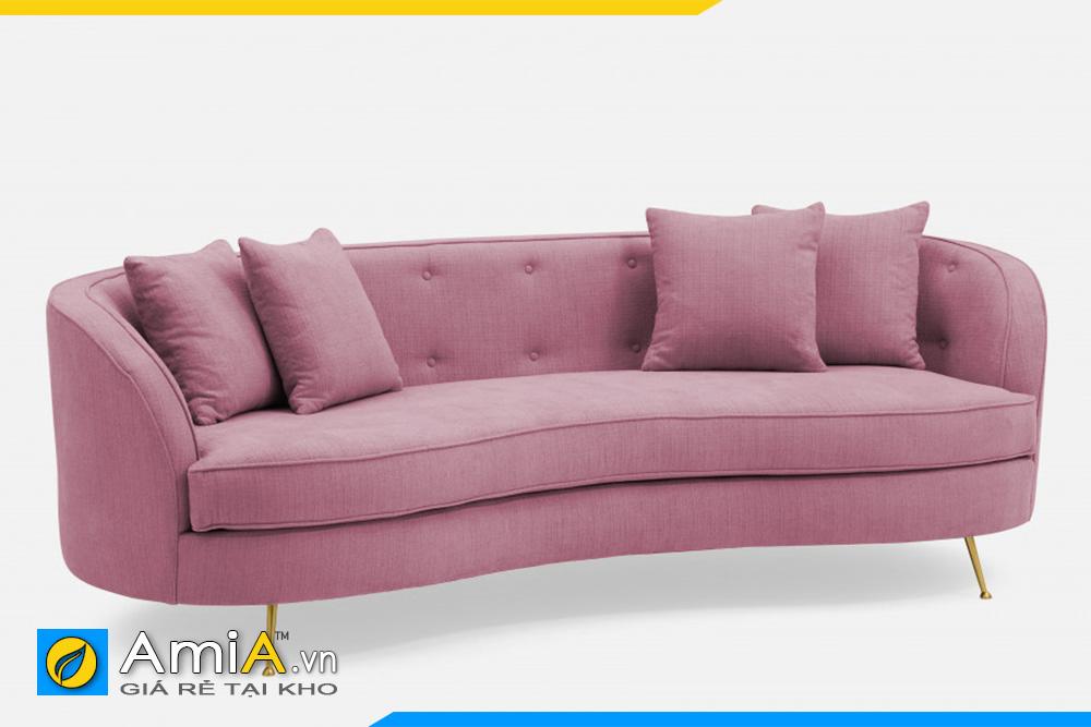 sofa màu hồng kiểu dáng tròn