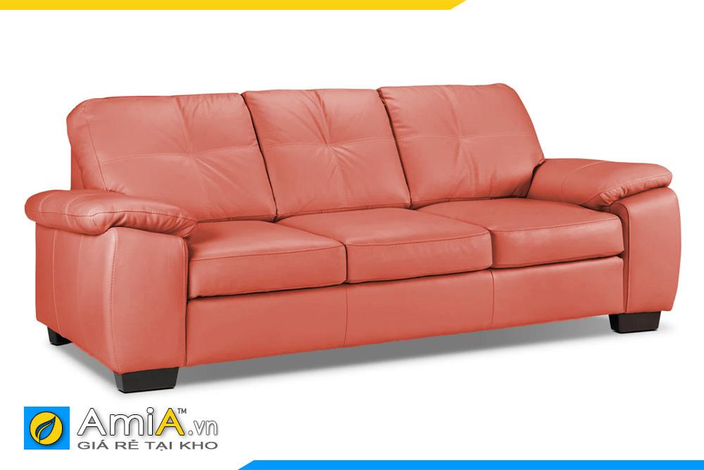 Ghế sofa văng đẹp với da màu cam