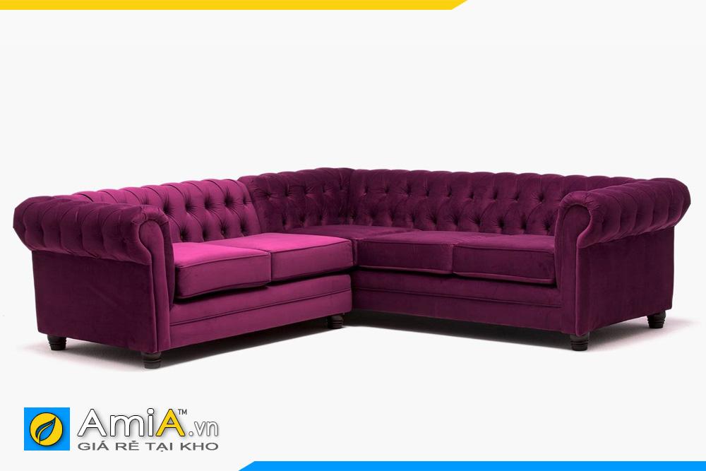 sofa tân cổ điển bọc nỉ nhung