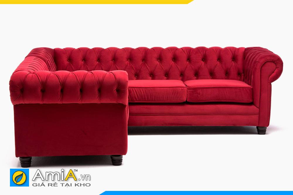 ghế sofa nỉ đẹp màu đỏ