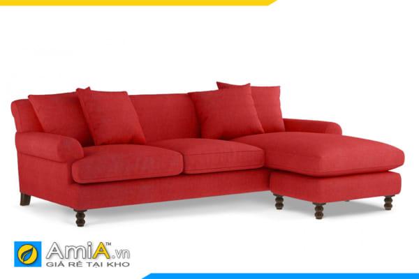 sofa phòng khách màu đỏ tân cổ điển