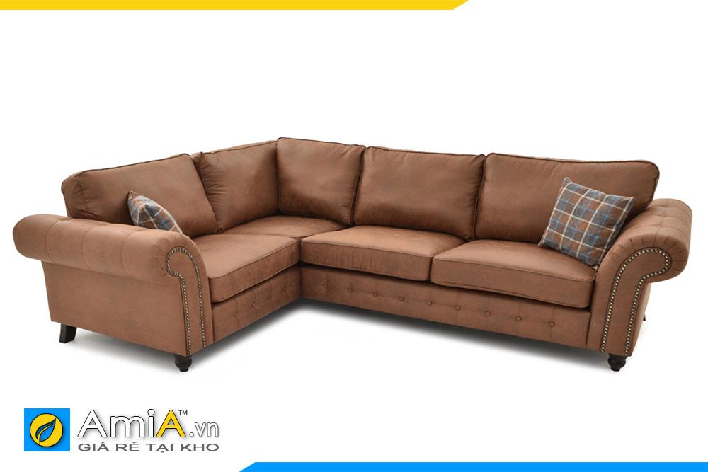 sofa tân cổ điển bọc da
