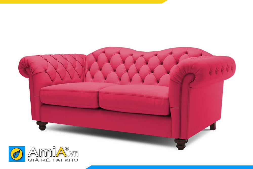 sofa tân cổ điển màu đỏ AmiA 20007