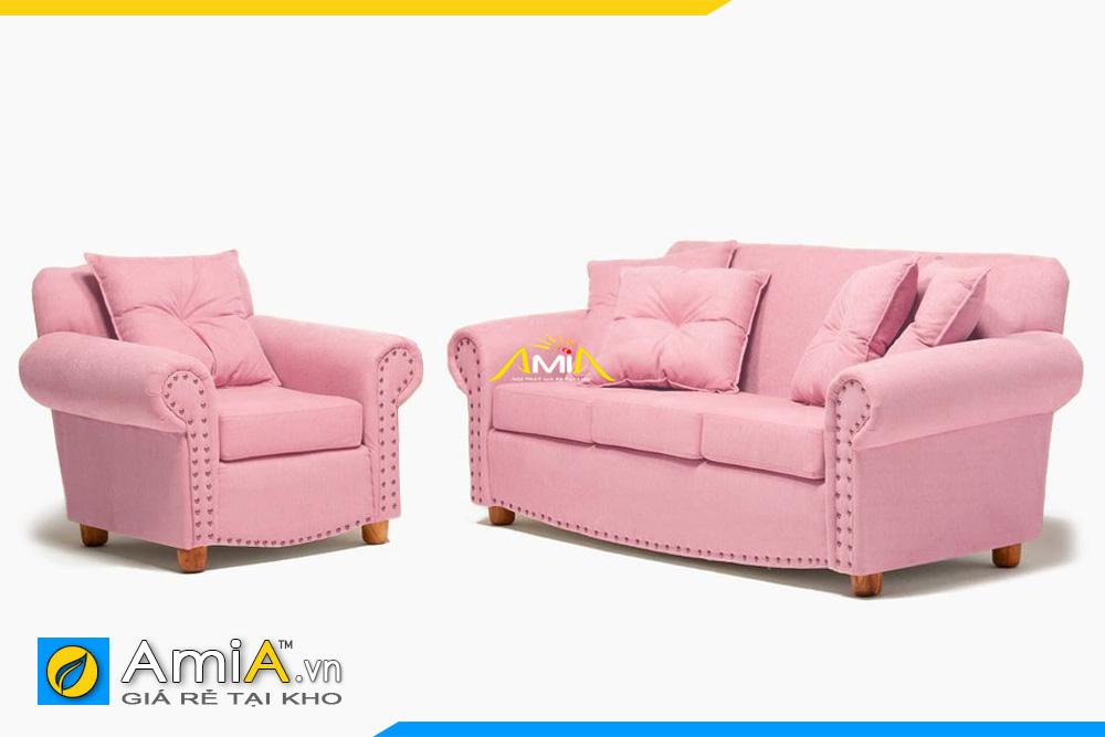 sofa tân cổ điển màu hồng