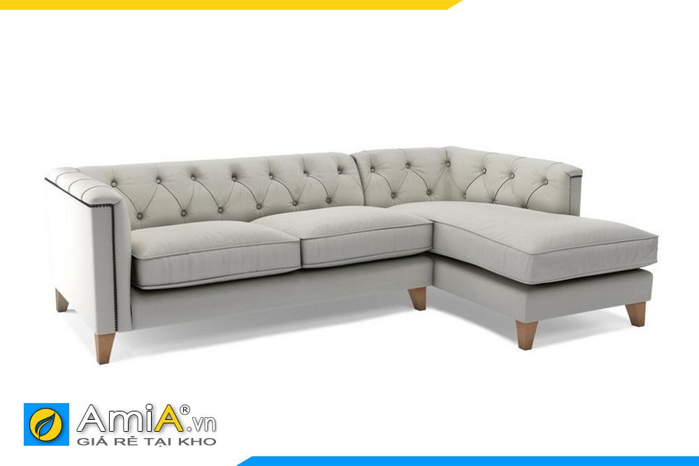 Mẫu sofa tân cổ điển với gam màu trắng