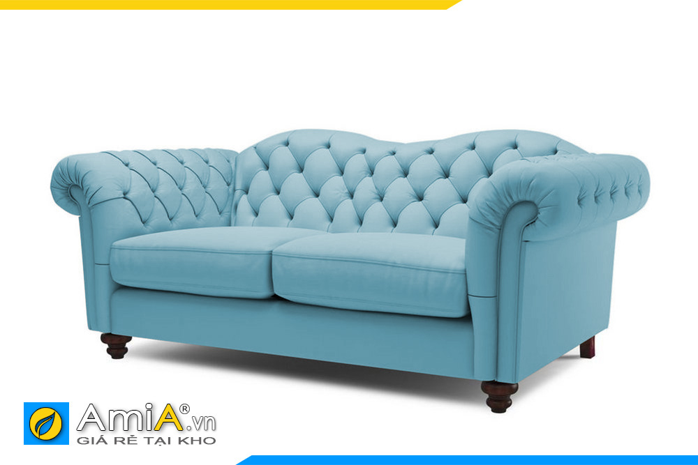 sofa tân cổ điển màu xanh AmiA 20007