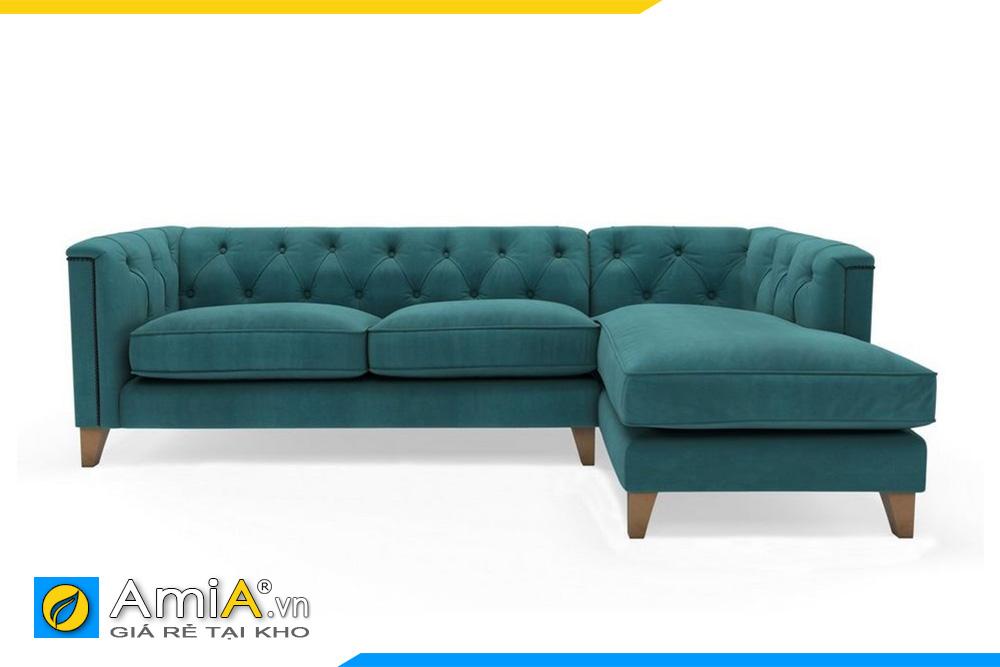 sofa tân cổ điển màu xanh AmiA 20011