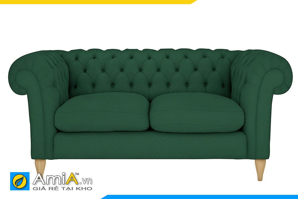 Sofa tân cổ điển AmiA 20054 màu xanh lục