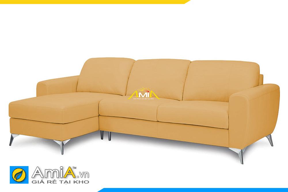 ghế sofa góc chữ L chất liệu da AmiA 20226