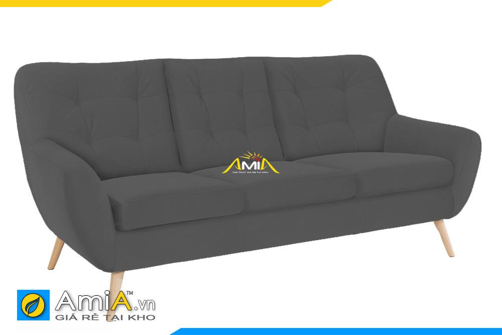 ghế sofa nỉ màu ghi tựa lưng cao