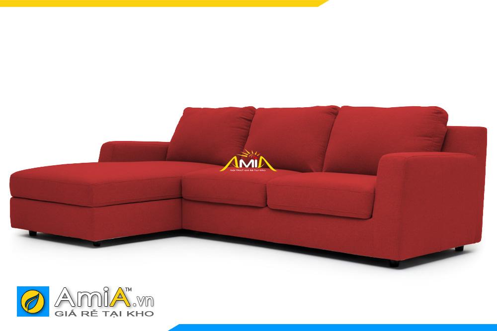 ghế sofa chất liệu nỉ màu đỏ